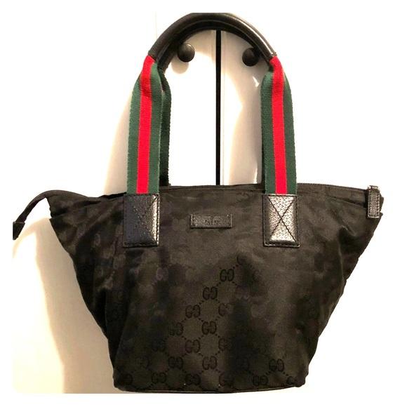6f37e49ea86 Gucci Handbags - authentic Gucci nylon signature G tote